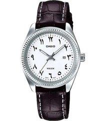 reloj analógico mujer casio ltp-1302l7b3 - negro con blanco