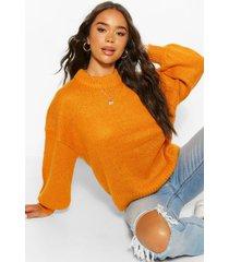 balloon sleeve sweater, orange