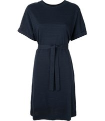 a.p.c. flared t-shirt dress - blue
