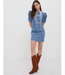 motivi vestito a tubino in denim donna blu