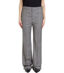 balenciaga glen plaid trousers