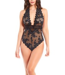 icollection women's chloe lace day and night halter bodysuit
