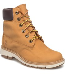 lucia way 6in boot wp shoes boots ankle boots ankle boot - flat brun timberland