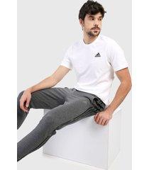 camiseta blanco-negro adidas performance essentials logo