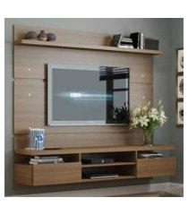 painel para tv até 65 polegadas madesa moscou 180 cm 2 portas rustic rustic