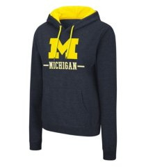 colosseum michigan wolverines women's genius hooded sweatshirt