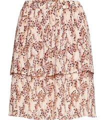 camly rikkelie skirt aop knälång kjol multi/mönstrad moss copenhagen