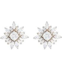 starburst' cubic zirconia post earrings