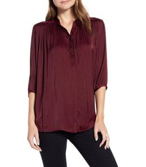 women's rebecca minkoff fleur rumpled satin blouse