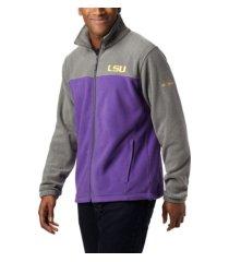 columbia l.s.u. men's flanker jacket iii fleece full zip jacket