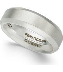 men's beveled-edge cobalt ring