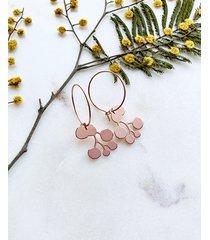 kolczyki- kwiat mimozy - mimoza