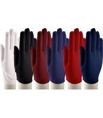 wrist length dress gloves - dress up, church, formal - white, black & colors