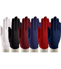 wrist length dress gloves - dress up, church, formal - white, black & colors
