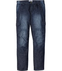 jeans cargo regular fit straight (blu) - john baner jeanswear