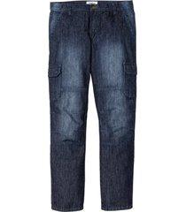 jeans cargo regular fit straight (blu) - john baner jeanswear