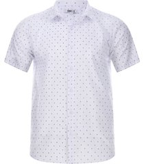 camisa print cruces color blanco, talla xl