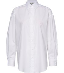 gina cotton overhemd met lange mouwen wit dagmar