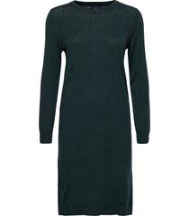 merino wool dress knälång klänning grön gant