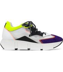 vic matie colour block low-top sneakers - black