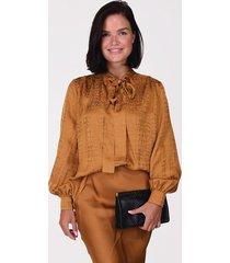 anine bing blouse delilah top a-07-2154-255 cognac