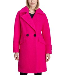bcbgeneration double-breasted boucle walker coat, created for macy's