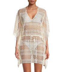 pq women's nancy mesh coverup dress - ivory - size xs/s