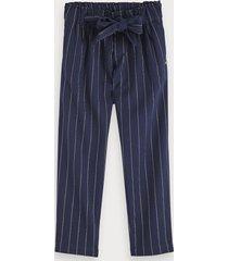 scotch & soda lurex pinstripe pants