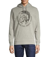 graphic cotton-blend hoodie