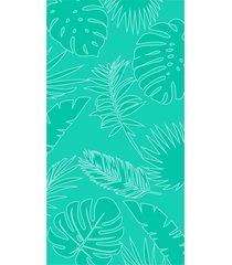 toalha de praia beach - appel - folhagem aqua fresh, - tricae