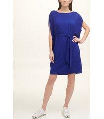 dkny shirred-sleeve dress
