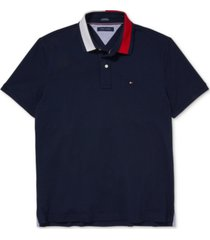 tommy hilfiger adaptive men's custom-fit signature alan polo with magnetic closure
