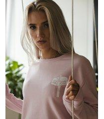 bluza crewneck tgnd powder pink