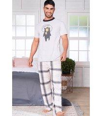 pijama conjunto pantalón manga corta hombre 11539