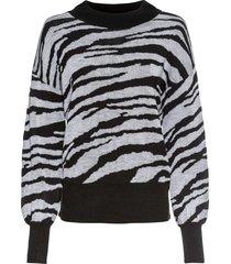 maglione zebrato (nero) - rainbow