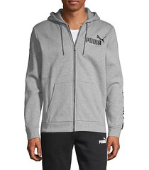 full-zip cotton-blend hoodie