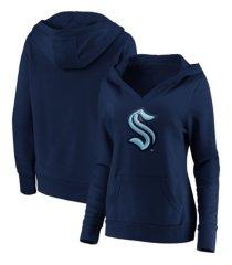 majestic seattle kraken women's leader v-neck fleece sweatshirt