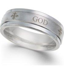 men's god honor strength cobalt ring