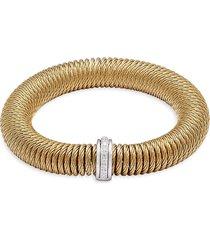alor women's stainless steel, 14k white gold & diamond bracelet - gold