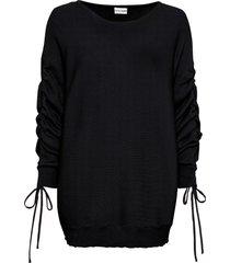 maglione con maniche arricciate (nero) - bodyflirt