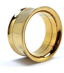 alargador aço dourado rosca interna