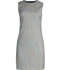theory women's easy sleeveless shift dress - grey - size 18
