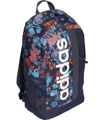 maleta azul oscura adidas linear graphic dt5652  envio gratis*