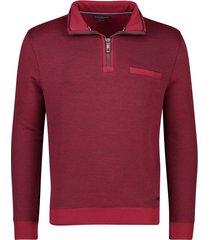 casa moda trui rood rits in kraag