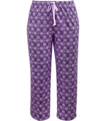 charter club printed knit cotton cropped pajama pants, created for macy's