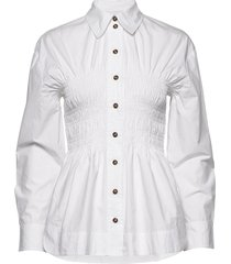 cotton poplin långärmad skjorta vit ganni