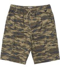 toddler boys camouflage tie waist cargo shorts