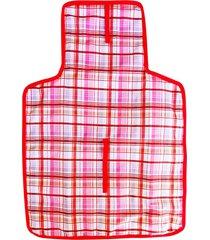 trocador de fraldas pocho portátil bolsa dobrável enxoval bebê rosa