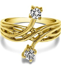 0.20 ct round diamond 925 silver promise wedding ring 18k yellow gold plated
