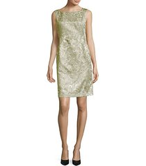 faith metallic printed sheath dress